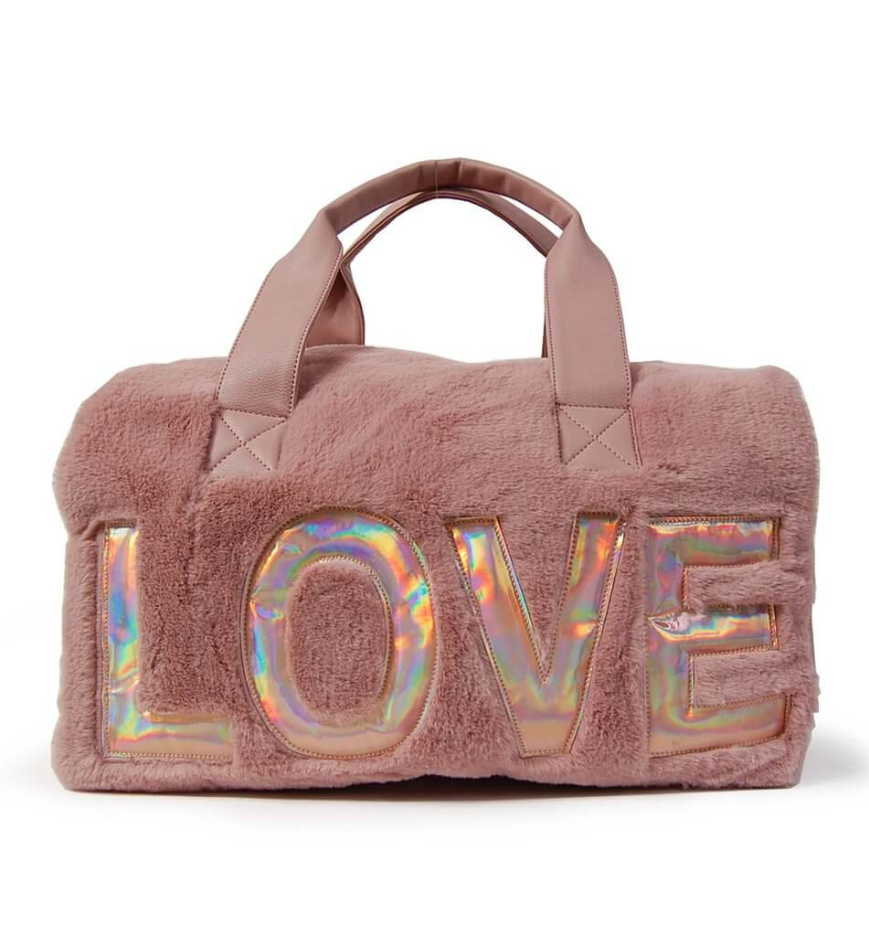 Love Faux Fur Duffle
