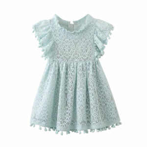 Lacey Pom-Pom Dress