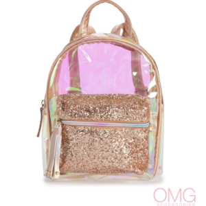 Clear Iridescent Mini Backpack