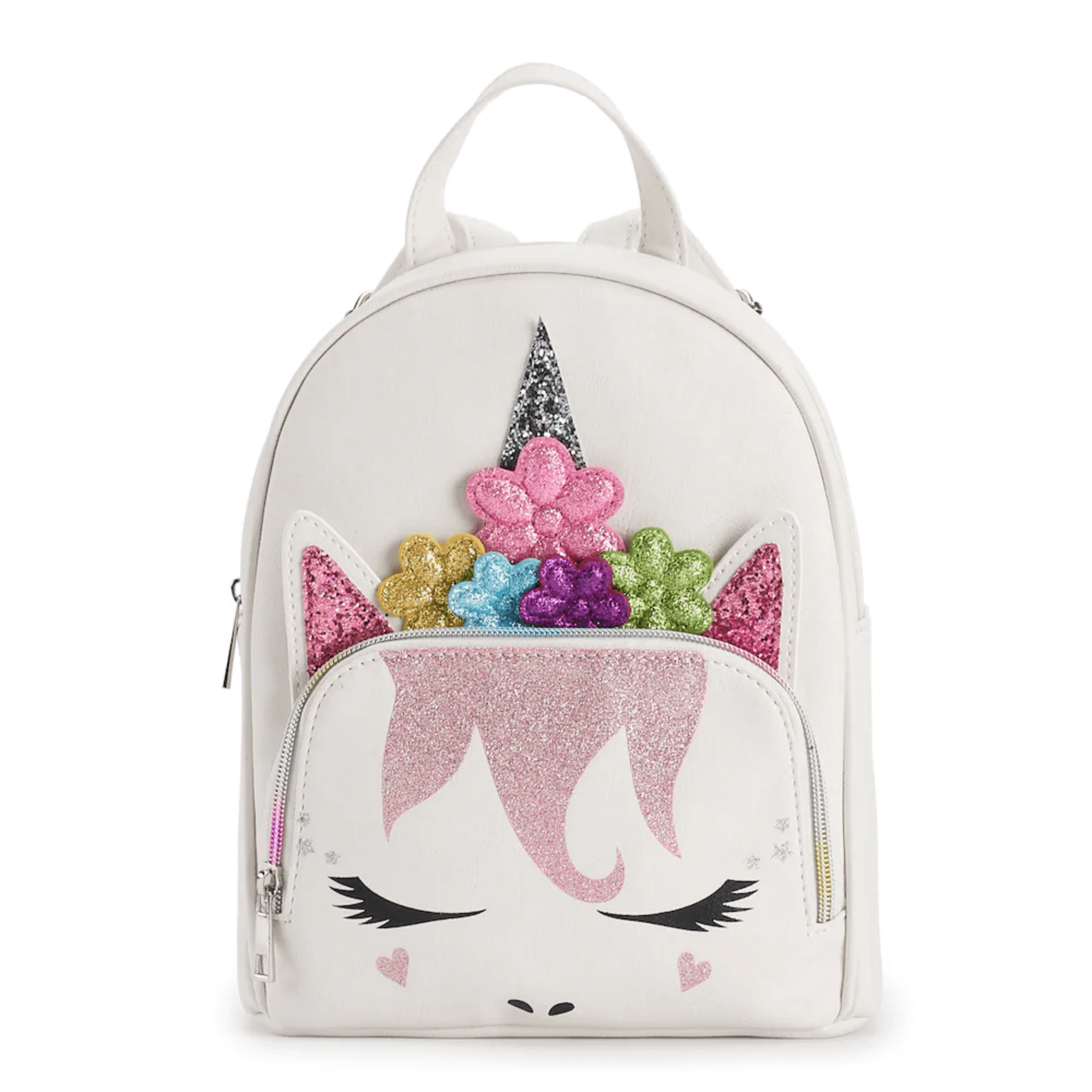 Unicorn with Flower Crown Mini Backpack