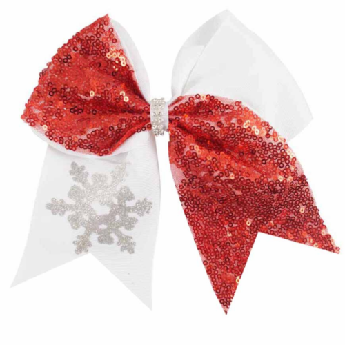 Sequin Snowflake Bow