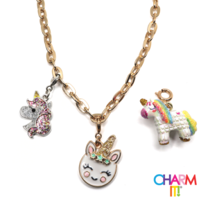 Gold Unicorn Charm Necklace Set