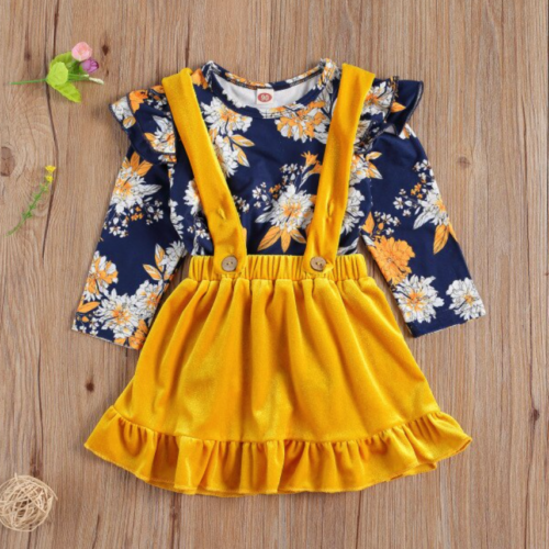 Yellow Jumper with Floral Top